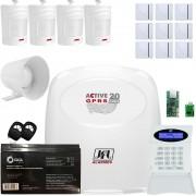 Kit Alarme Monitorado Active 20 Gprs COm Sensores Sem Fio