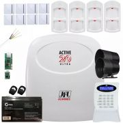Kit Alarme Monitorado Active 20 Ultra 4 Sensor Pet Ird 640 Jfl 8 Shc Fit