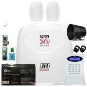 Kit Alarme Monitorado Active 20 Ultra Com Modulos e Sensores