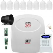 Kit Alarme Monitorado Active 20 Ultra Jfl + Ethernet + Gprs
