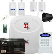 Kit Alarme Monitorado Active 32 Duo Jfl + Ethernet + Sensores