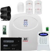 Kit Alarme Monitorado Active 8 Ultra Jfl + Ird 640 + Idx 1001 + Gprs