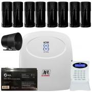 Kit Alarme Monitorado Active 8 Ultra Sensores Iva 150Mts Ira 360 Jfl