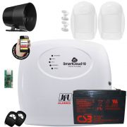 Kit Alarme Residencial 18 Zonas Smartcloud 18 Jfl Acesso Via App Celular