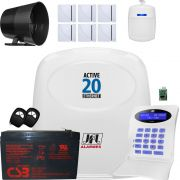 Kit Alarme Residencial Active 20 Ethernet Com Shc Fit E Ds 410 Jfl