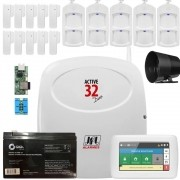 Kit Alarme Residencial Active 32 Duo Controle Via Smartphone Jfl