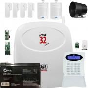 Kit Alarme Residencial Active 32 Duo Jfl Sem Fio Completo
