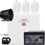 Kit Alarme Residencial Asd 200 Com Sensores Pet Idx 2001 Jfl