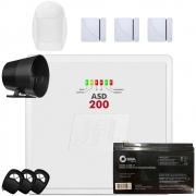 Kit Alarme Residencial Asd 200 Jfl Com Sensor Magnetico e Infravermelho