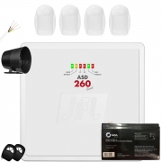 Kit Alarme Residencial Asd 260 Com Sensor Pet 20kg Jfl Completo