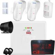 Kit Alarme Residencial Asd 260 Jfl E Sensores Ird 640 E Dse 830 Jfl