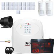 Kit Alarme Residencial Jfl Brisa 4 Sinal Com Shc Fit E Ir Pet 550 Jfl
