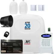Kit Alarme Residencial Monitorado Active 20 Ethernet Jfl