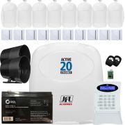 Kit Alarme Residencial Monitorado Active 20 Ethernet Sensores Idx 1001 e Shc Fit