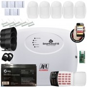 Kit Alarme Residencial Monitorado por Aplicativo Smart Cloud 18 Jfl