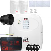 Kit Alarme Sem Fio Com Central Brisa Cell 804 Gsm Jfl