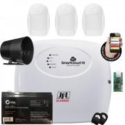 Kit Alarme Smart Cloud 18 Jfl 3 Sensores Pet Ivp Idx 2001