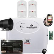 Kit Alarme Smart Cloud 18 Jfl com Sensor Pet IRD 640