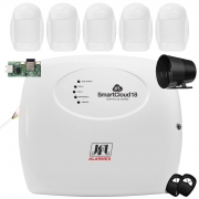 Kit Alarme SmartCloud 18 Jfl Com Sensores Idx 1001 Jfl