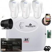 Kit Alarme SmartCloud 18 Jfl Sensores Externo Dse 830