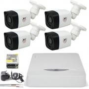 Kit 4 Cameras Infra Full Hd 1080p 2Mp Bullet Externa Chd 2320p Jfl