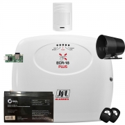 Kit Central De Alarme e Choque Ecr 18 Com Sensor Ir Pet 530 Sf Jfl