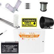 Kit Cerca Eletrica Residencial Com Central Smd Choque E Alarme