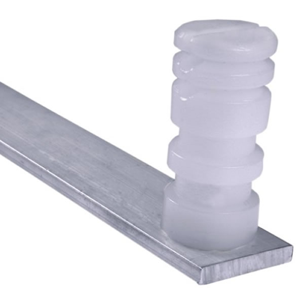 Haste Para Cerca Eletrica Aluminio Barra Chata 3/4 0,75cm 4 Isoladores