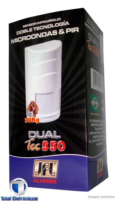 SENSOR DE PRESENÇA INFRAVERMELHO PET 30KG MICROONDAS DUAL TEC 550 JFL