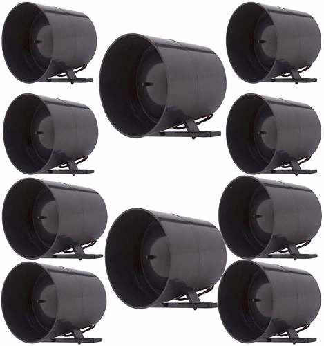 10 Sirenes Para Alarme Piezo Alta Potencia 1 Tom 120 Db