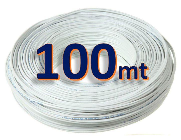 Cabo Coaxial Cftv Bipolar 4mm Flexível 80% Malha Para Cftv 100mts