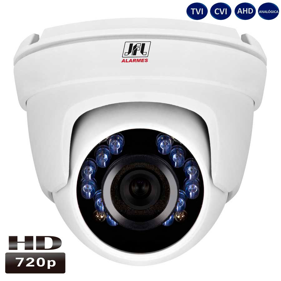 Camera Dome Hd 720p Metal Lente 2.8mm 4em1 Chd 1120m Jfl