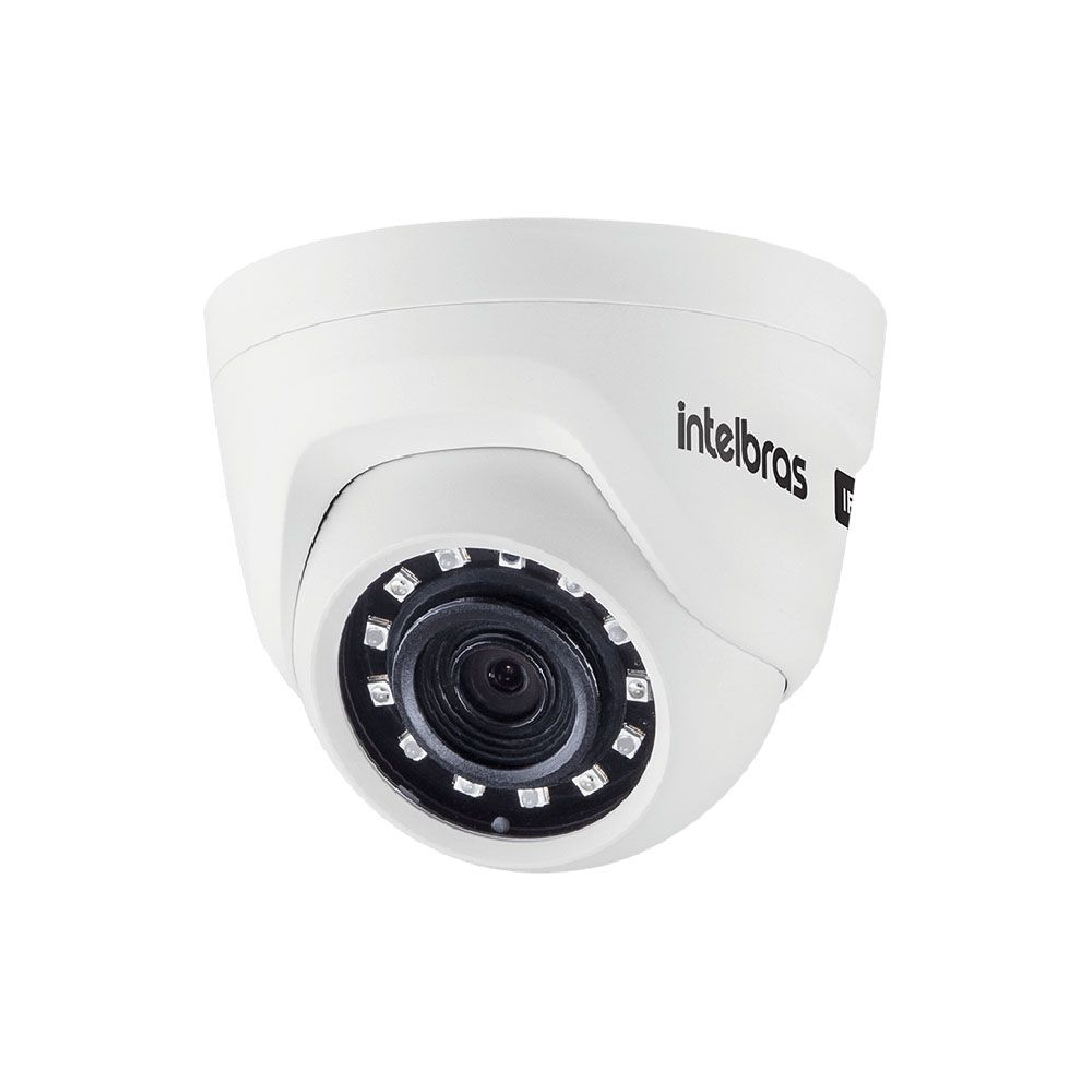 Camera Ip Dome Intelbras HD 720p 2,6mm Vip 1020 D