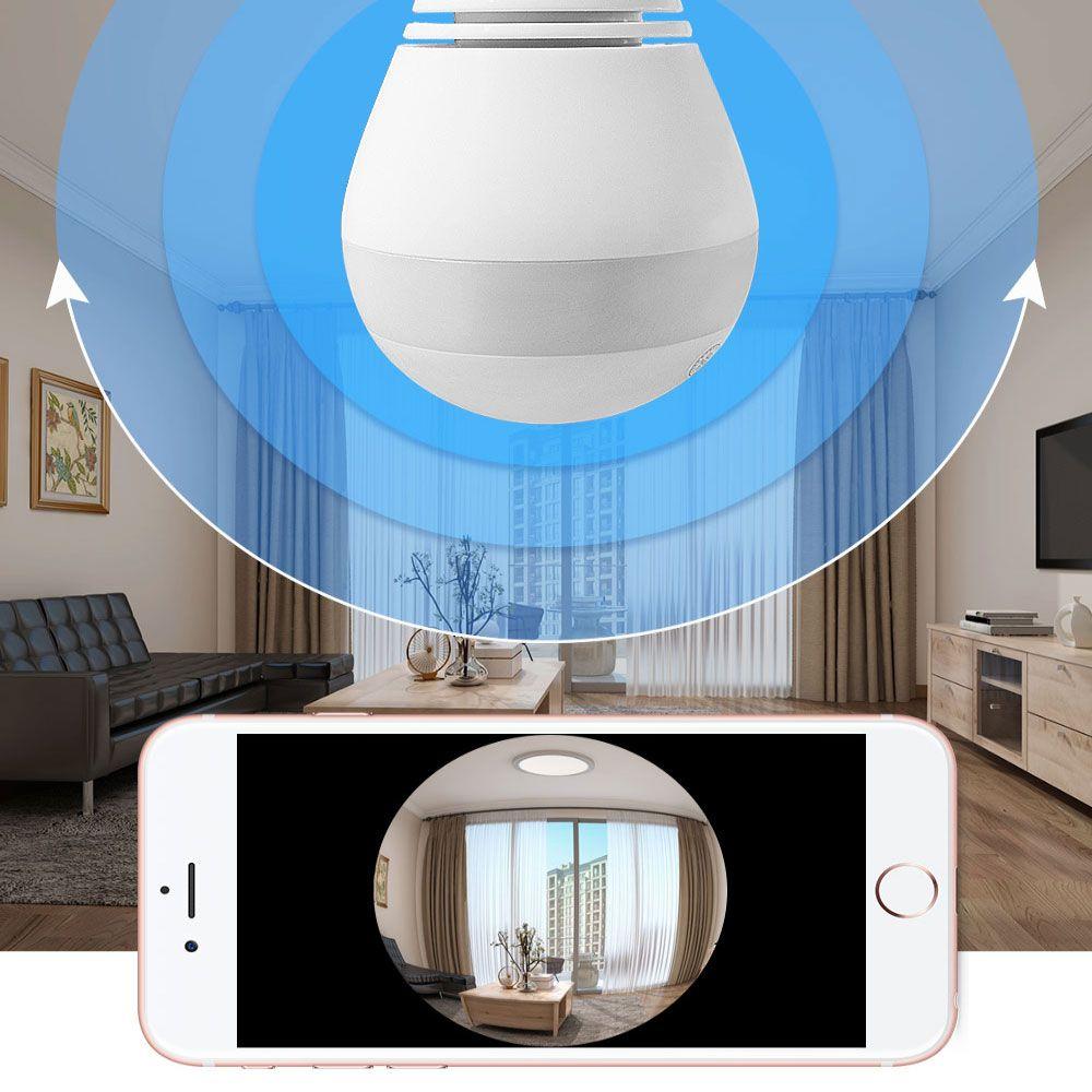 CAMERA IP FORMATO LAMPADA PANORAMICA 360° WIRELESS HD 1.3MP