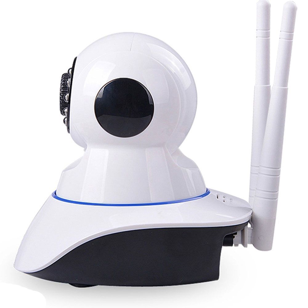 Camera Ip Wireless Sem Fio Wifi Hd Dupla Antena P2p Nuvem