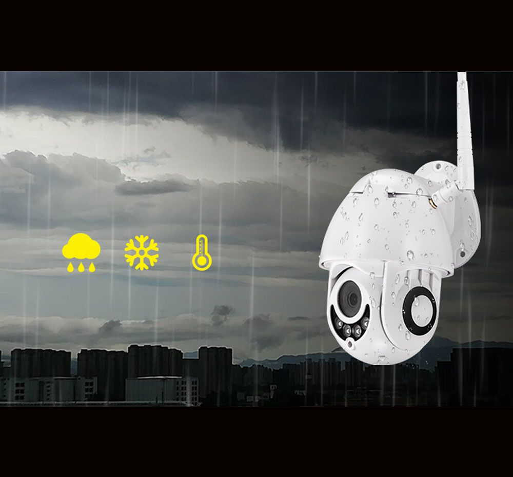 Camera Speed Dome Wifi Wireless Externa Infra Full Hd 1080p
