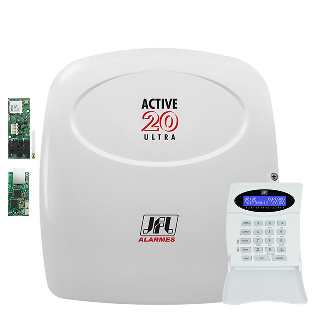 Central de Alarme Active 20 Ultra com Modulo Gprs e Ethernet