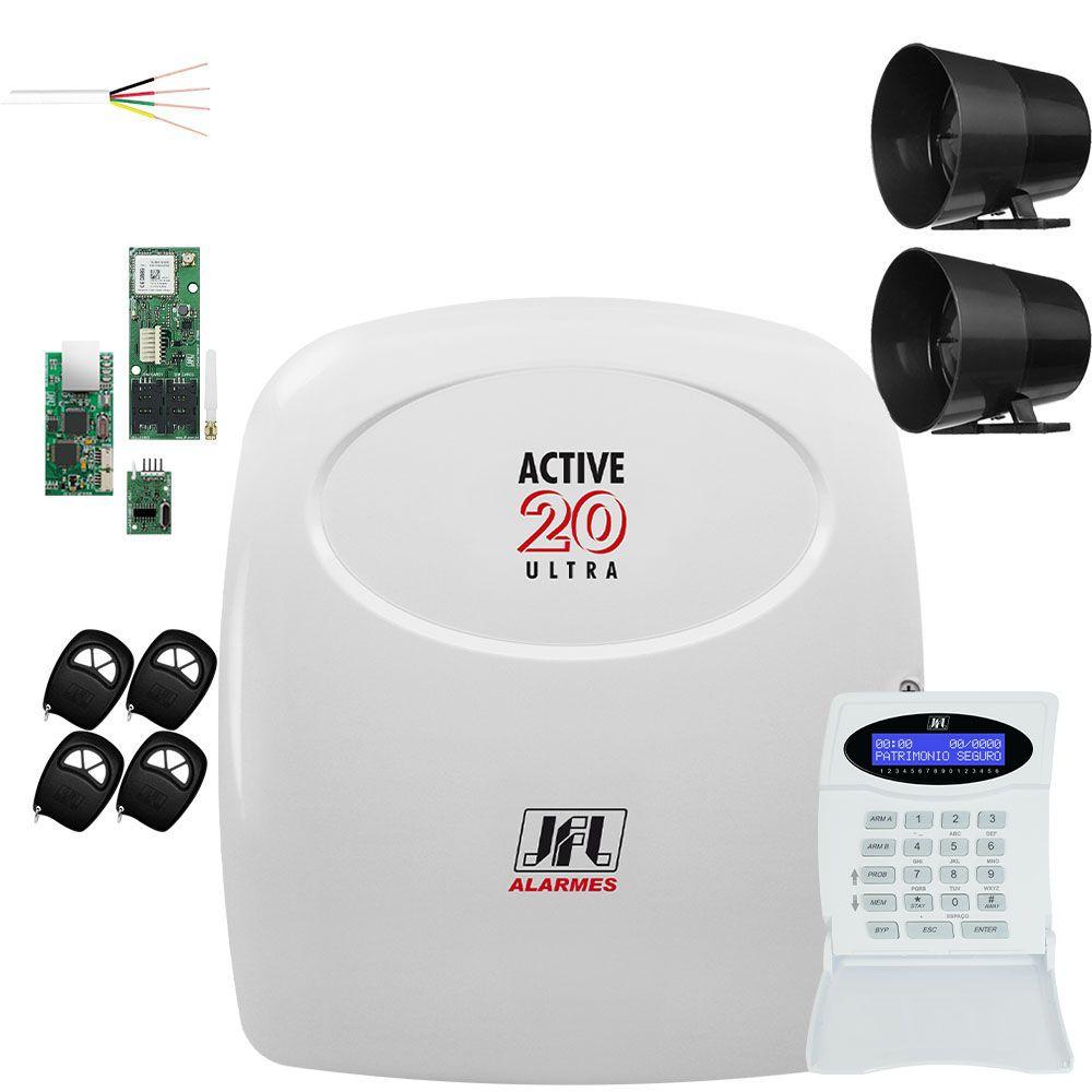 Central de Alarme Active 20 Ultra Com Módulos e Controle