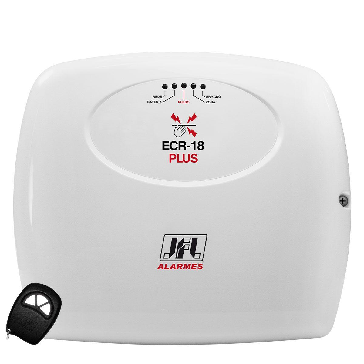 Central De Alarme Ecr 18 Plus Jfl Com Bateria Selada 12v