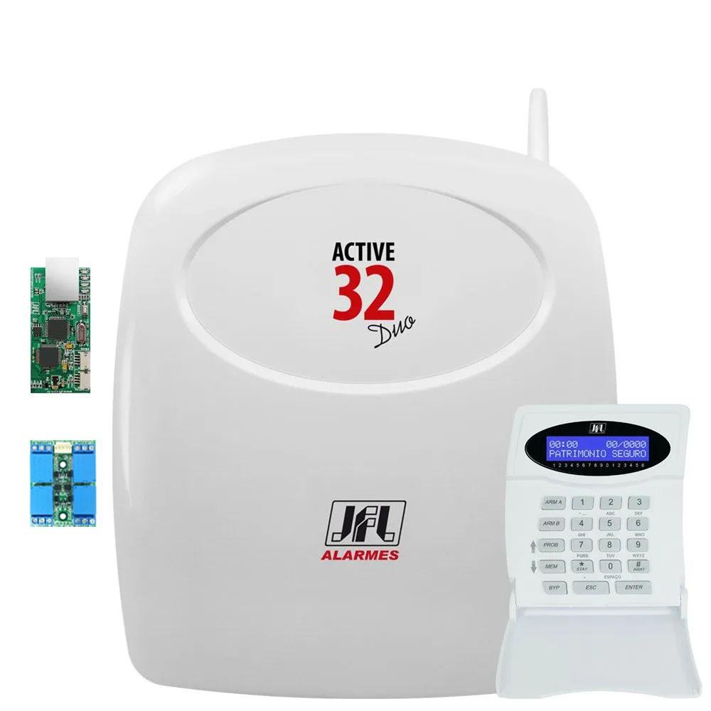 Central De Alarme Monitorada Active 32 Duo Com Modulo Ethernet E Pgm Jfl