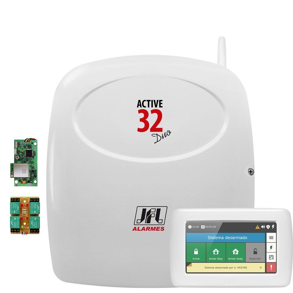 Central De Alarme Monitorada Active 32 Duo Jfl + Teclado + Pgm + Ethernet Mw01