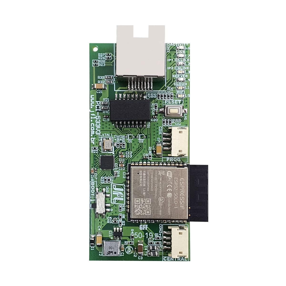 Central De Alarme Monitorado Active 32 Duo Jfl Com Ethernet Me-04 E Teclado Tec 300