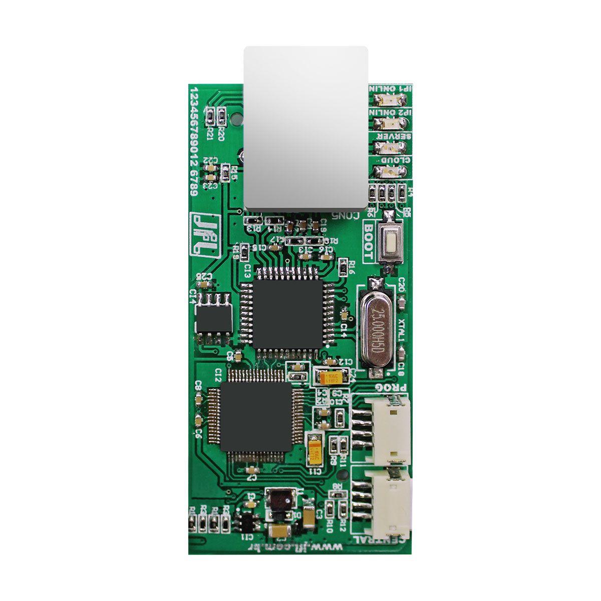 Central de Choque e Alarme Ecr 18i Plus Com Modulo Me 04 Bateria e Sirene