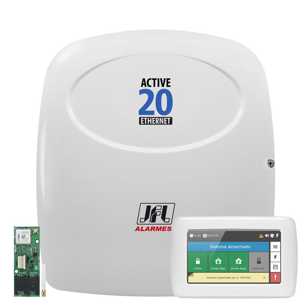 Central Monitorada Active 20 Ethernet E Gprs Com Teclado Ts 400 Jfl