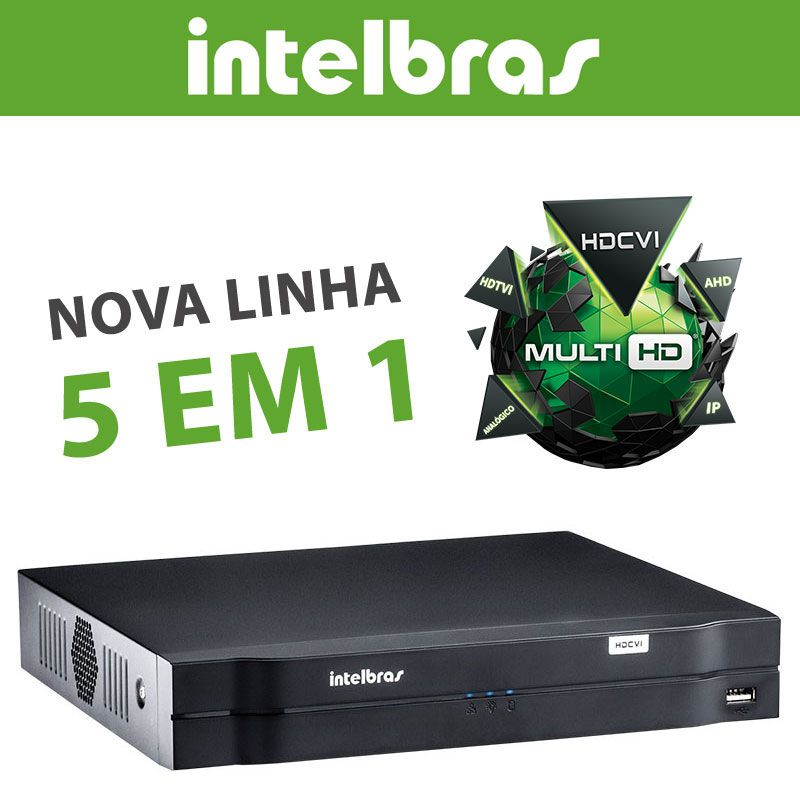 Dvr Nvr 8 Canais Intelbras 1080n Mhdx 1108 Com Hd 1tb Wd Purple