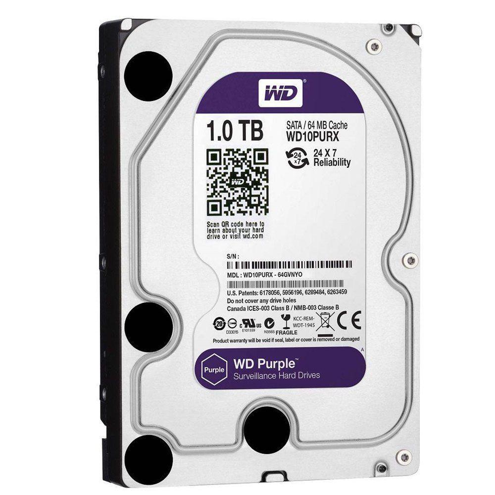 Dvr Nvr 8 Canais Intelbras 1080n Mhdx 1108 Com Hd 1tb Wd Purple