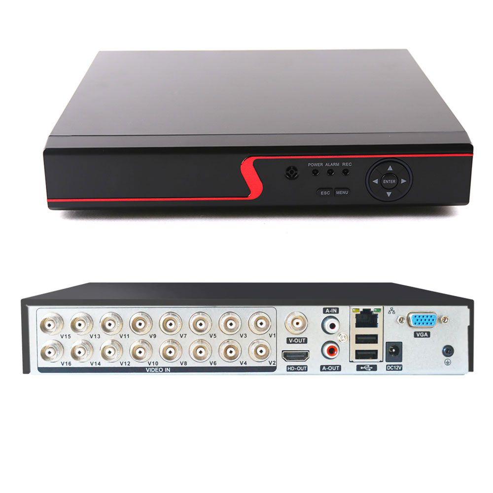 Gravador Dvr 16 Canais Full Hd 1080p P2p Nuvem 5em1