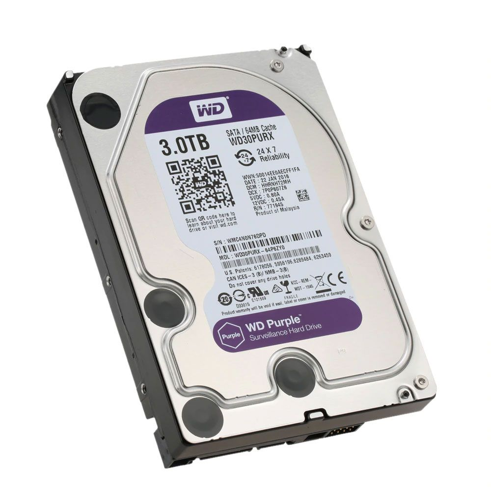 Hd Wd Purple 3 Teras Interno Para Dvr Wd30purx