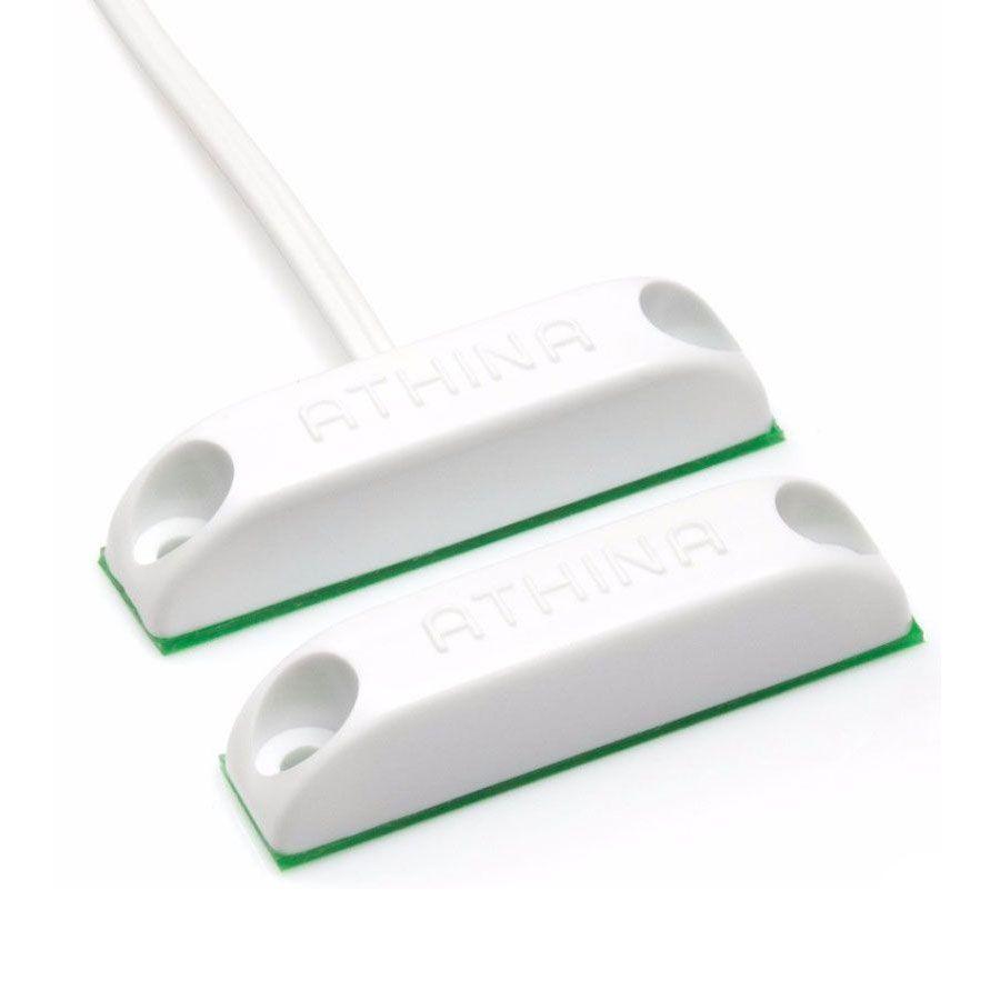 Kit 10 Sensor Magnético Sobrepor Com Fio Para Alarme N/A