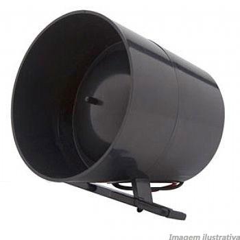 Kit 10 Sirenes Piezo 1 Tom 120 Db Glk Preta Para Alarme Residencial